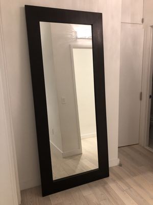 Modern solid wood floor mirror for Sale in PECK SLIP, NY