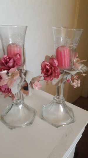 2 crystal candle holders for Sale in Bell, CA