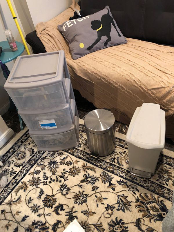 Trash cans and storage drawers