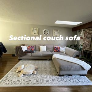 $300 sectional couch sofa 2 pieces for Sale in Beaverton, OR