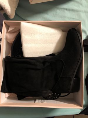 Black thigh high boots Size 9 (New) for Sale in Denver, CO