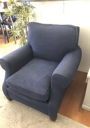 Blue Oversized Club Chairs (set of 2) Buy 1 or both! for Sale in Rockville, MD