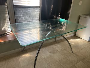 Glass table and chairs (Not scratched needs wiping) for Sale in Houston, TX