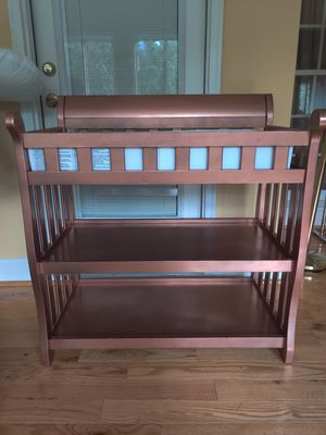 Copper painted changing table with pad for Sale in Euharlee, GA