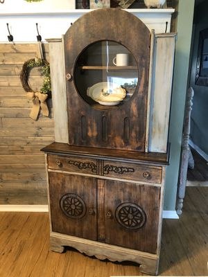Gorgeous refinished solid oak hutch for Sale in Heidelberg, PA