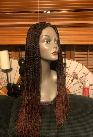 WIG, (CLIP-ON ) Long braid Extensions w/Laced front for Sale in Sacramento, CA