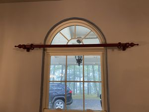 Drapes curtains and Bars with hanger hooks for Sale in US