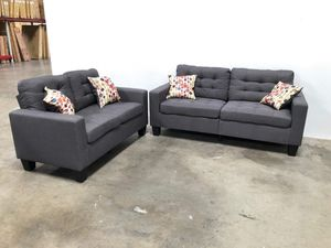Sofa and love seat grey or black for Sale in Phoenix, AZ