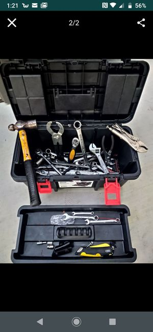 Tool box new whit used tools for Sale in Modesto, CA