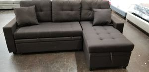 Dark grey sofa with pullout bed for Sale in Sacramento, CA