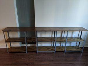 Industrial Design Shelving Unit - TV stand - Bookshelf for Sale in Fairfax, VA