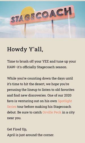 STAGECOACH 3 DAY TICKETS 2020 for Sale in Anaheim, CA