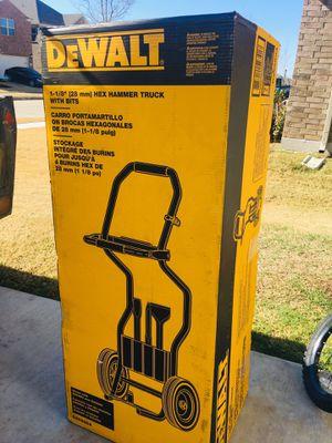 Dewalt hummer drill dolly with bits for Sale in Aubrey, TX
