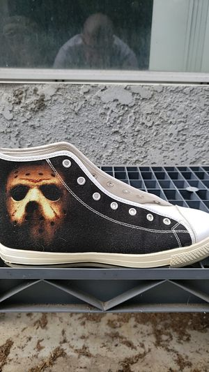 JASON VORHEES HIGH TOP SNEAKERS SIZE 10 HORROR for Sale in Huntington Beach, CA
