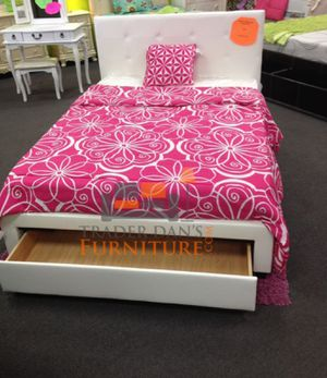 Brand new full size white platform bed frame with a drawer for Sale in Silver Spring, MD