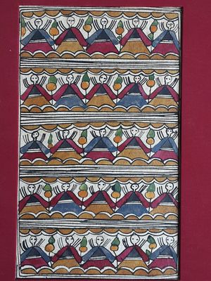 An original Mithila painting by artist Bharti Dayal for Sale in Tacoma, WA