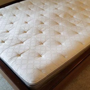 Queen Sleep Number Bed And Custom Hard Wood Walnut Frame for Sale in Auburn, WA
