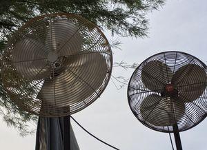 6ft tall Dayton Shop/Garage Pedestal Floor Fan (2) for Sale in Phoenix, AZ