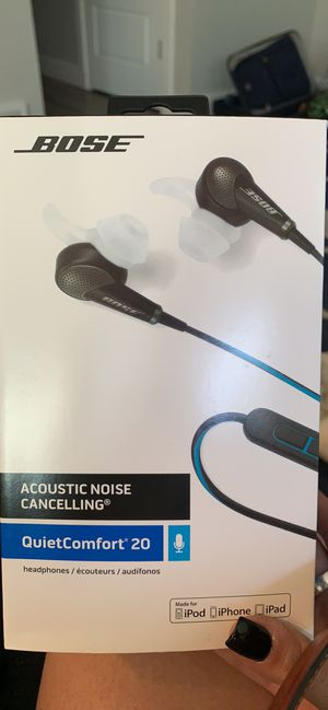 Bose Acoustic Noise Canceling Quiet Comfort 20 in ear only earphones for Sale in Layton, UT