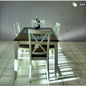 Kitchen table with four chairs white with gray-ish top like now for Sale in Winter Haven, FL