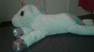 Super cute big Unicorn plushie for Sale in Miramar, FL