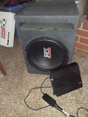 MTX 12 in. Sub / JVC amp for Sale in Las Vegas, NV