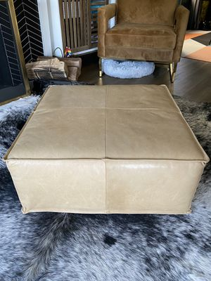 Leather Ottoman for Sale in Oakland, CA