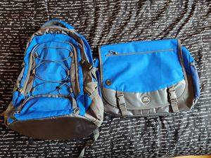 2 for $10 - Blue backpack and laptop bag. Purchased but never used, without tags. Vernon Hills area pickup only, cash payment for Sale in Riverwoods, IL