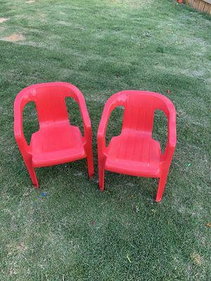 Set of 2 Kids Plastic Lawn Chair's for Sale in Dallas, GA