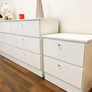New White Dresser And 2 Nightstands CRYSTAL GOLDEN HANDLES for Sale in Boca Raton, FL