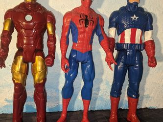 Marvel Avengers Action Figures Lot Ironman Spiderman Captain America for Sale in Tigard,  OR