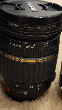 Canon Lenses (17-50mm, and 50mm) w/ lens cleaner for Sale in Fullerton,  CA