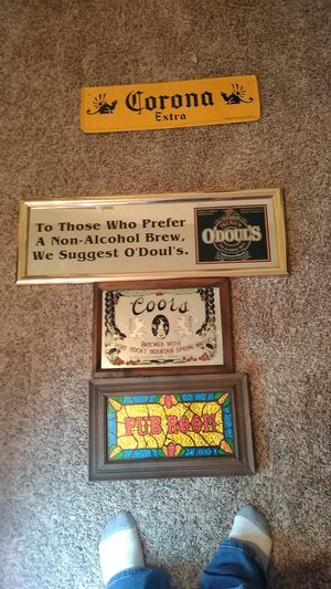 Bar room deco, Coors sign from England, size 4/4, 3/5, 6/5 for Sale in Abilene, TX