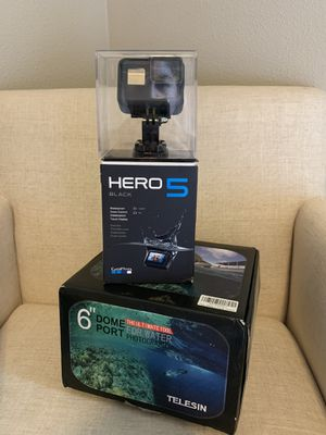 """GoPro hero 5 black with 6""""dome for Sale in Cheney, WA"""