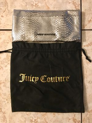 Juicy Couture fold over snakeskin clutch for Sale in Houston, TX