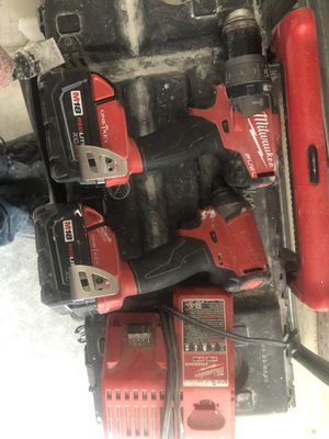 Milwaukee M18 FUEL ONE-KEY 18-Volt Lithium-Ion Brushless Cordless Hammer Drill/Impact Driver Combo Kit (2) 5.0Ah Batteries Case for Sale in Falls Church, VA