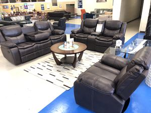 BRAND NEW SOFA LOVE AND CHAIR BROWN LEATHER for Sale in Fort Worth, TX