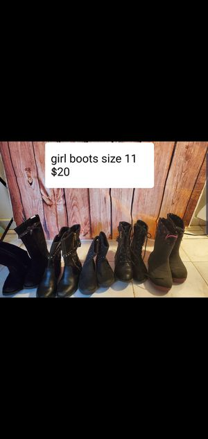 Girl boots size 11 $20 for all the boots for Sale in Chicago, IL