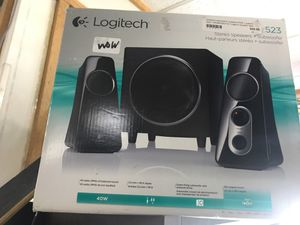 Stereo Logitech speakers+Subwoofer for Sale in Detroit, MI