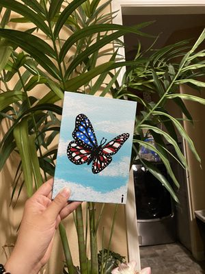 AMERICAN FLAG BUTTERFLY PAINTING for Sale in Vancouver, WA