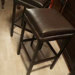 Two Stools Brown Would And Letter Bar Stools for Sale in Atlanta, GA