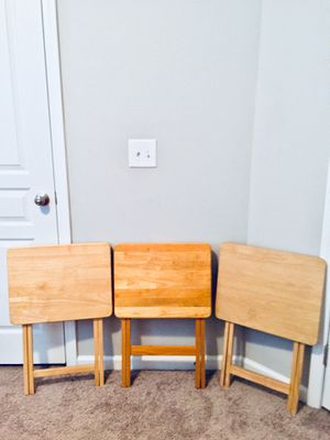 3 Piece Foldable Wood Tables for Sale in Raleigh, NC