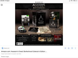 Assassin Creed Brotherhood Collector Edition Set for Sale in Kaukauna, WI