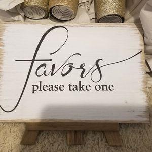 Wedding Favors Sign for Sale in Sloan, NV