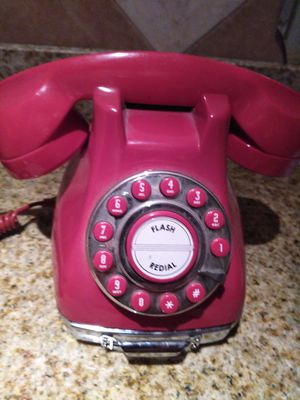 Red push button phone. The democrats red hot line phone for ordering boxes of kleenex for Sale in NEW PRT RCHY, FL
