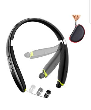 NEW! Foldable Wireless Neckband Headset with Retractable Earbuds for Sale in Arlington, TX