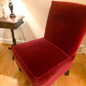 Side chairs / slipper chairs - 2 - Beautiful Like New Condition - Merlot Color for Sale in Lynnwood, WA