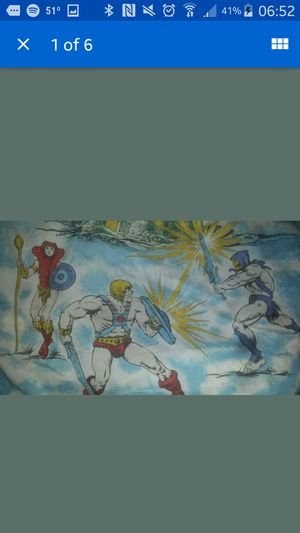 Vintage masters of the universe. Heman fitted sheet for Sale in Ruston, LA