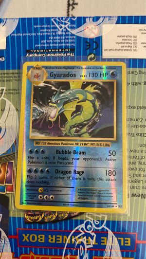 2016 Pokemon XY Evolution Gyarados Reverse Holo 34/108. BRAND NEW IN MINT CONDITION. for Sale in Denver, CO