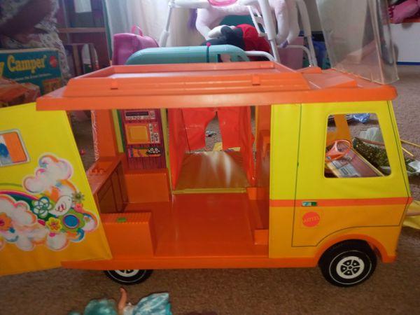 vintage barbie country camper. 1972
